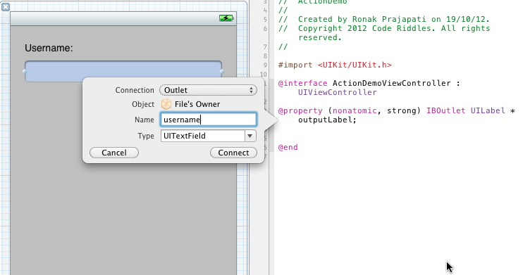 objective-c actions