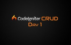 Codeigniter CRUD Day 1