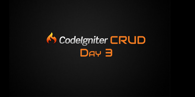 Codeigniter CRUD Day 3