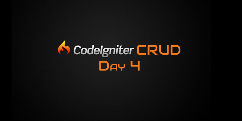 Codeigniter CRUD Day 4