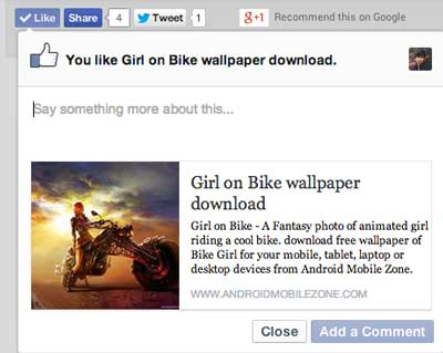 jQuery Widget Facebook Like