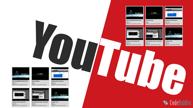 Youtube Video Gallery in PHP